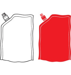 Food or drink pouch vector image vector image