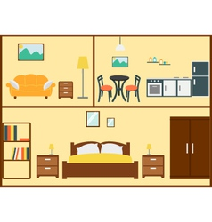 Home interior design vector
