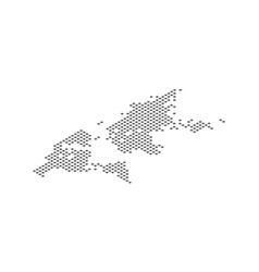 Isometric world map dotted effect vector