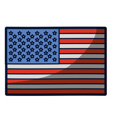 Light colours silhouette of flag the united states vector