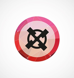 Mill circle pink triangle background icon vector