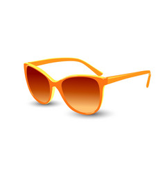 Orange sunglasses realistic graphic vector