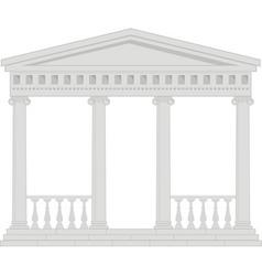 portico vector image vector image