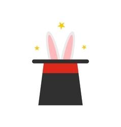 Rabbit in magician hat icon vector