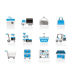 Transportation and shipping icons vector