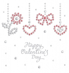 valentine jewel background vector image vector image