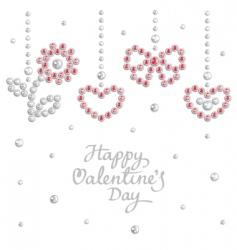 valentine jewel background vector image vector image