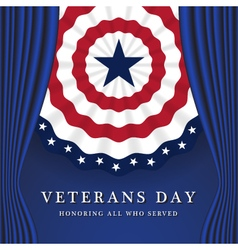 Veterans Day Background With Circle Wavy USA Flag vector image