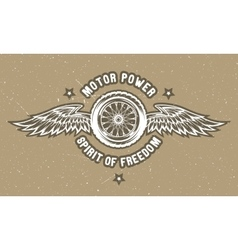 Wheel and wings The spirit of freedom vector image vector image