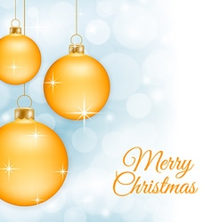 Yellow Christmas baubles vector image vector image
