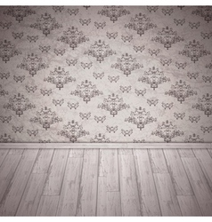 Vintage Room Interior vector image