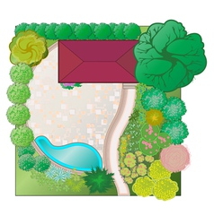 Landscaping project vector image