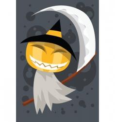 pumpkin reaper vector image