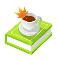 Icon book and coffee vector