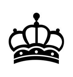 elegant crown luxury ornament jewelry vintage vector image