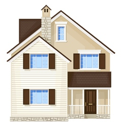 Front door house vector