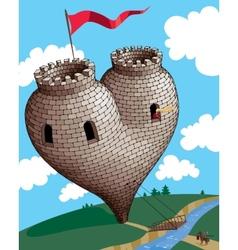 Heart tower vector
