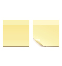 Empty yellow sticker paper for reminding - set vector