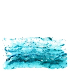 Abstract watercolor sea vector