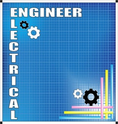 Electrical engineer background vector