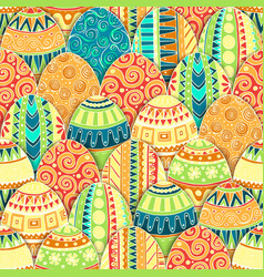 Hand-drawn doodle easter seamless pattern vector