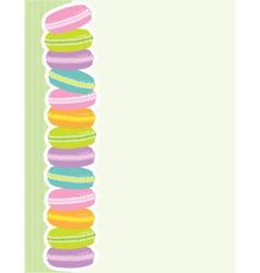 macaron border vector image