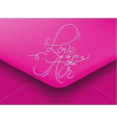 Valentines envelope pink vector image