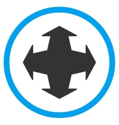 Directions flat icon vector