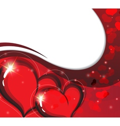 Valentines day card with sparkling hearts vector