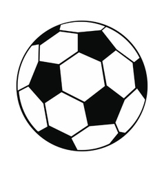 Ball black simple icon vector