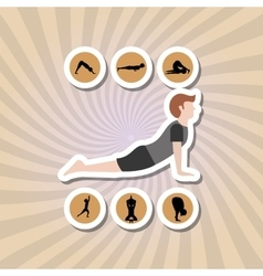 Yoga icon design vector