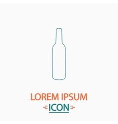 Alcohol bottle computer symbol vector