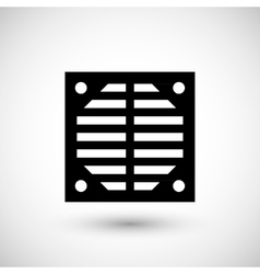 Ventilation grille icon vector