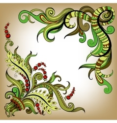 Sketchy doodles decorative color outline vector