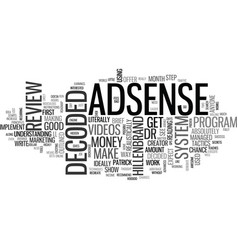 Adsense decoded review good or bad text word vector