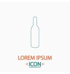 Alcohol bottle computer symbol vector