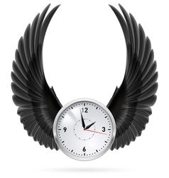 Black wings clock vector