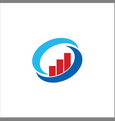 Business finance circle logo vector