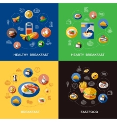 Cereal Icon Set vector image vector image
