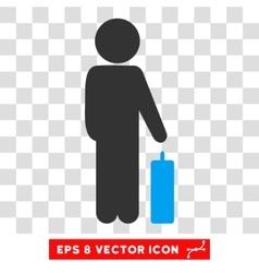 Child Baggage Eps Icon vector image
