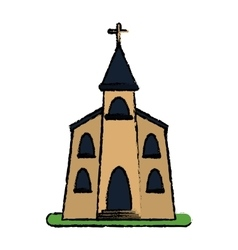 Church building religious christian sketch vector