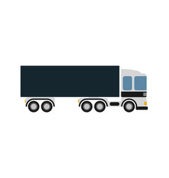 Commercial freight truck isolated icon vector