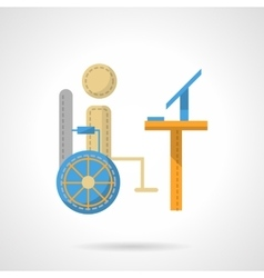 Distance education or job flat icon vector