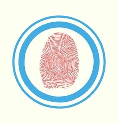 Fingerprint scan Touch vector image