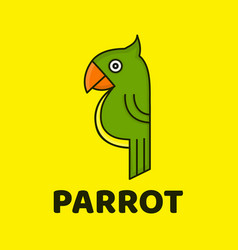 funny cute parrot modern style flat vector image vector image