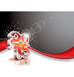 Happy New Year 3 d 2015 celebration background vector image vector image