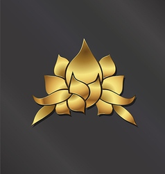Luxury Gold Lotus plant image vector image