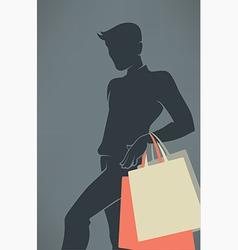 man shopping vector image vector image