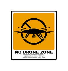 no drone zone sign vector image