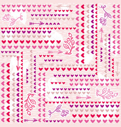 Pink background with valentine heart vector